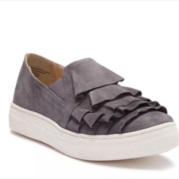 Suede Seychelles ruffle sneakers